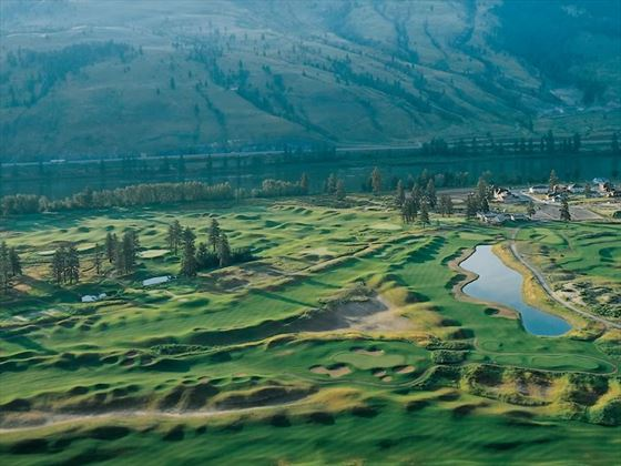 Aerial view of The Dunes at Kamloops Golf Course