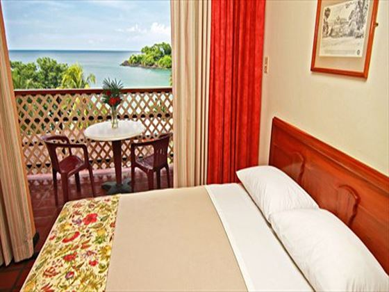 Bedroom and view at Grafton Beach Resort