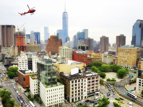 Helicopter over Downtown New York