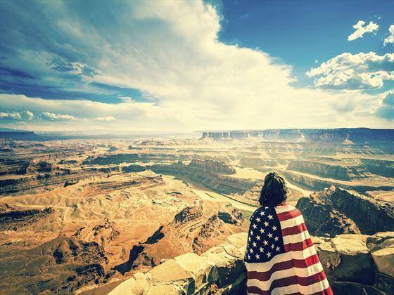 Woman enjoying the Grand Canyon views