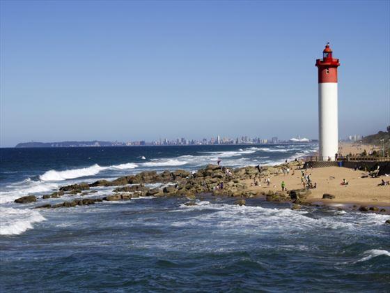 Lighthouse at Umhlanga beach, Durban