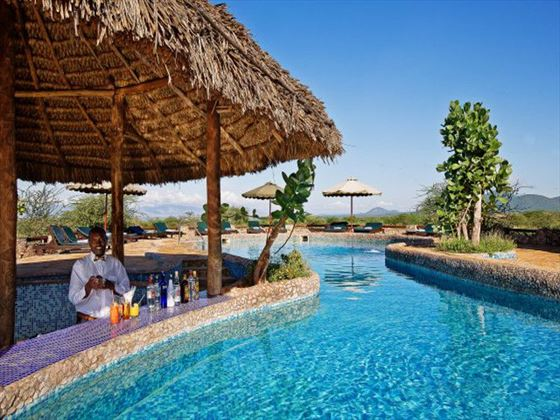 Pool bar at Samburu Sopa Lodge