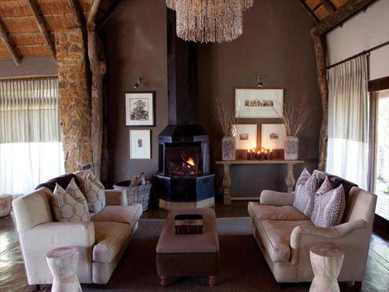Safari lounge at Leopard Hills