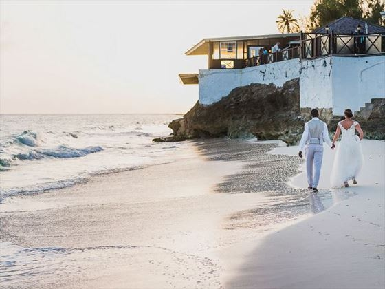 A sunset beach stroll at Sea Breeze Barbados