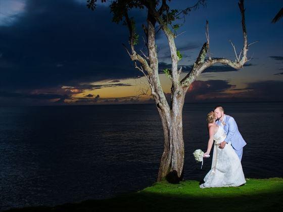 A stunning St Lucian sunset