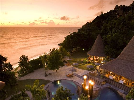 Maia Luxury Resort sunset view