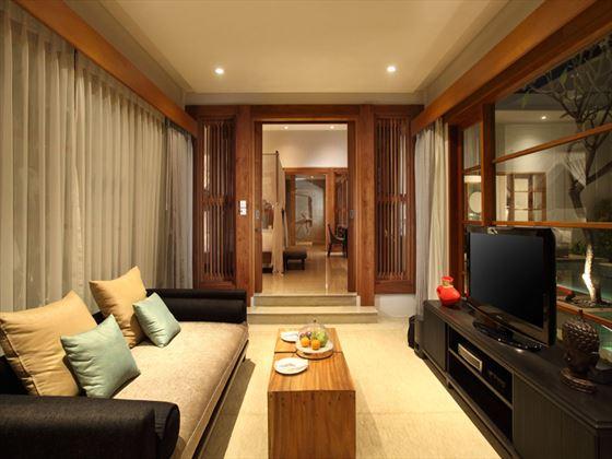 The Samaya Seminyak Pool Villa living room