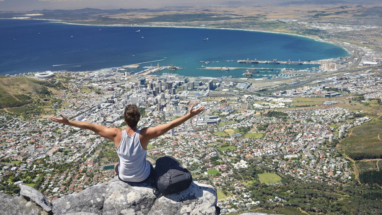 View from Cape Town's Table Mountain
