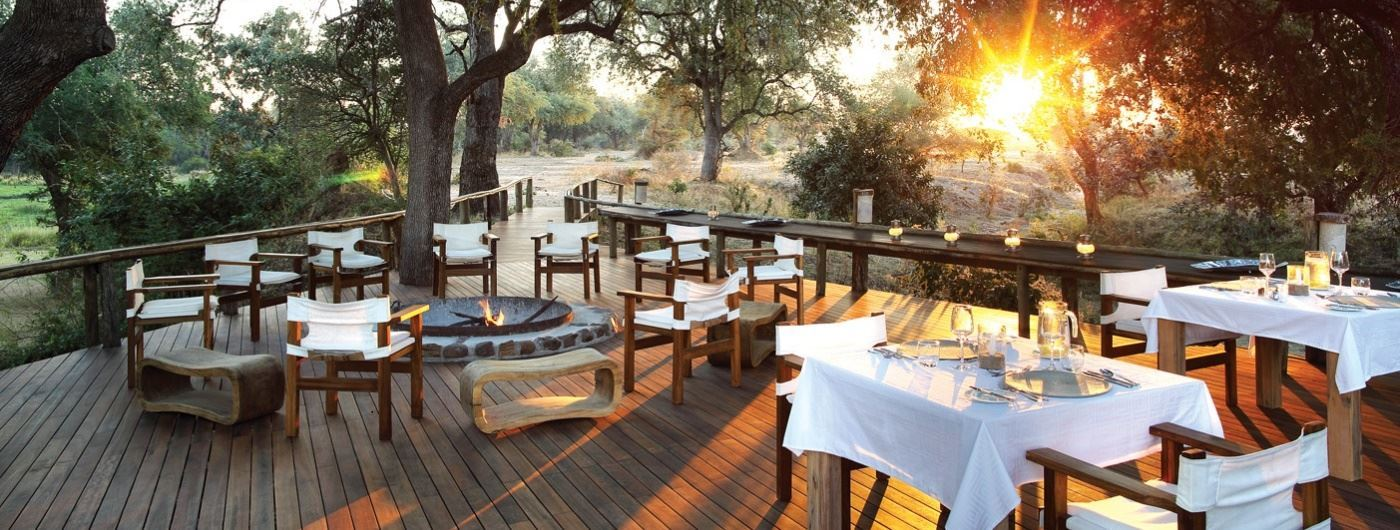 Anabezi Luxury Tented Camp boma area