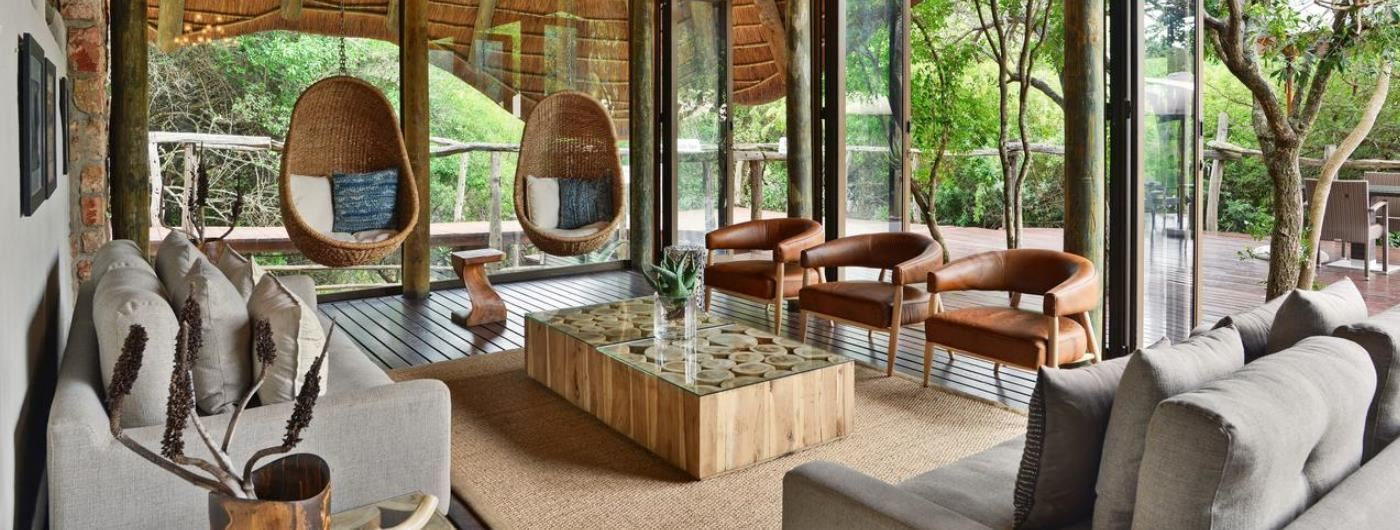 Bayethe Tented Lodge main lounge