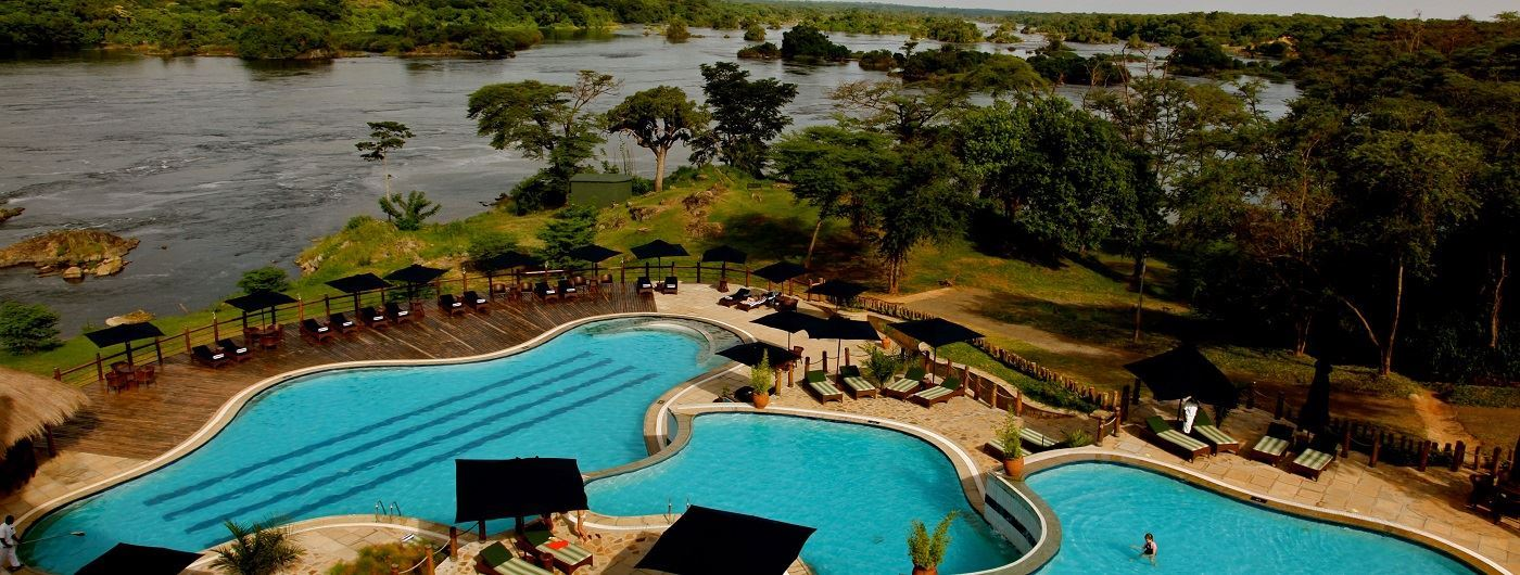 Chobe Safari Lodge tiered pool