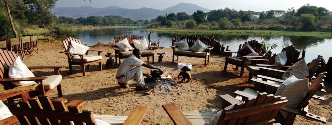 Chongwe River Camp campfire