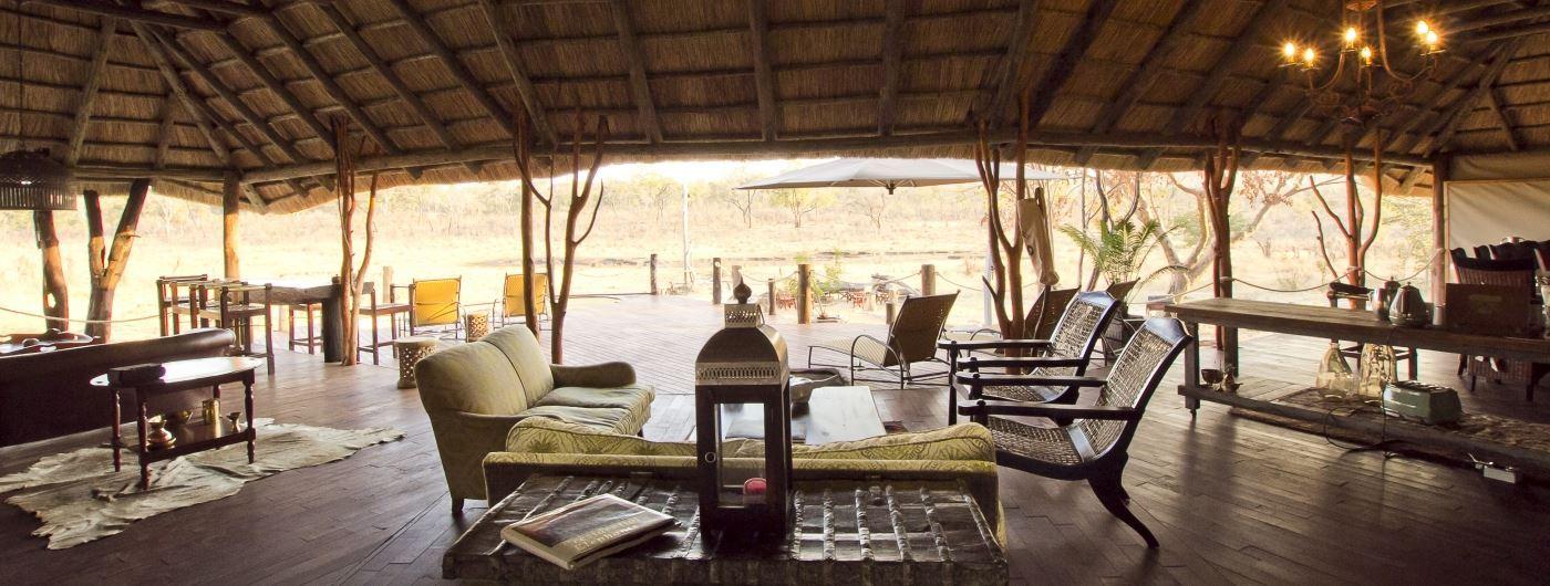 Khulu Ivory Lodge main lounge