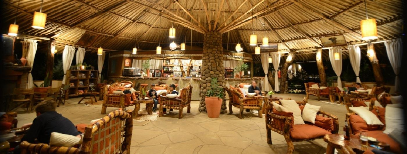 Kibo Safari Camp lounge area
