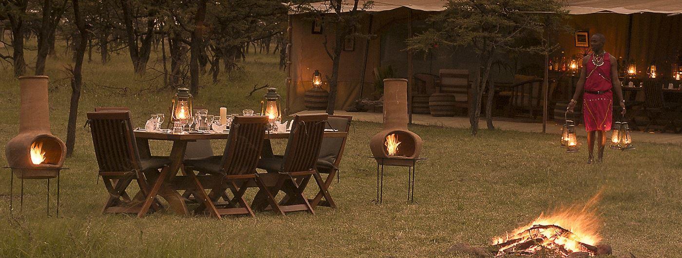 Kicheche Bush Camp al fresco dining