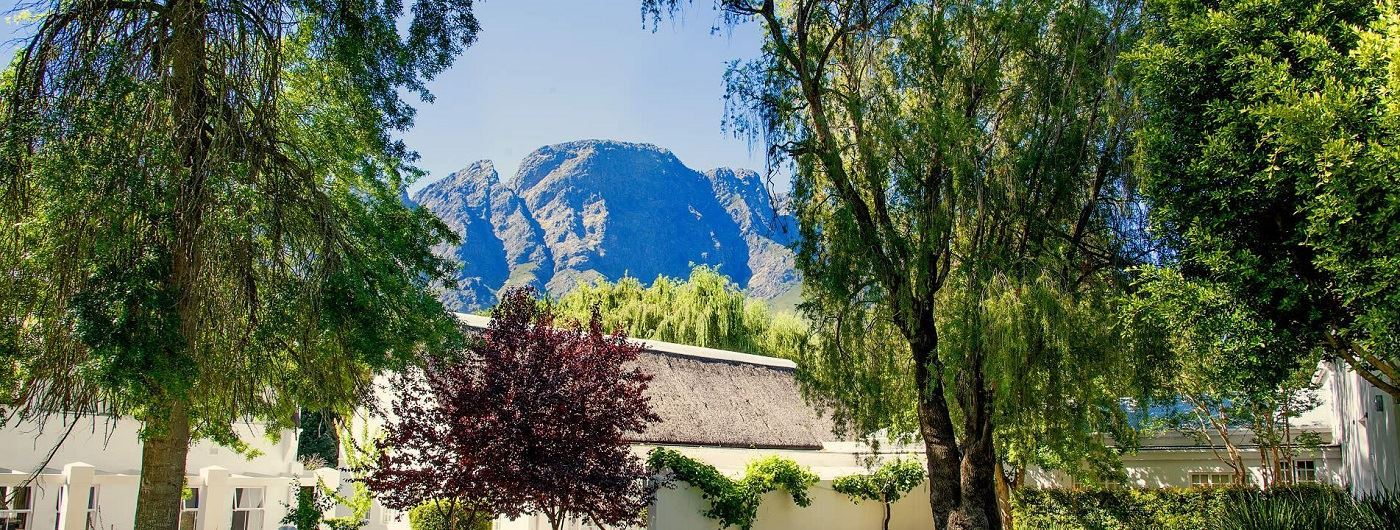 Le Franschhoek Hotel & Spa view of the mountains