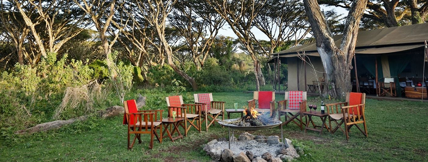 Lemala Ngorongoro Tented Camp fire pit