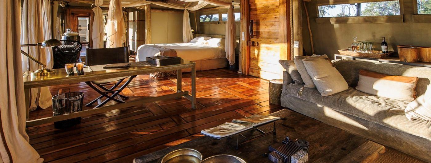 Little Mombo tent interior