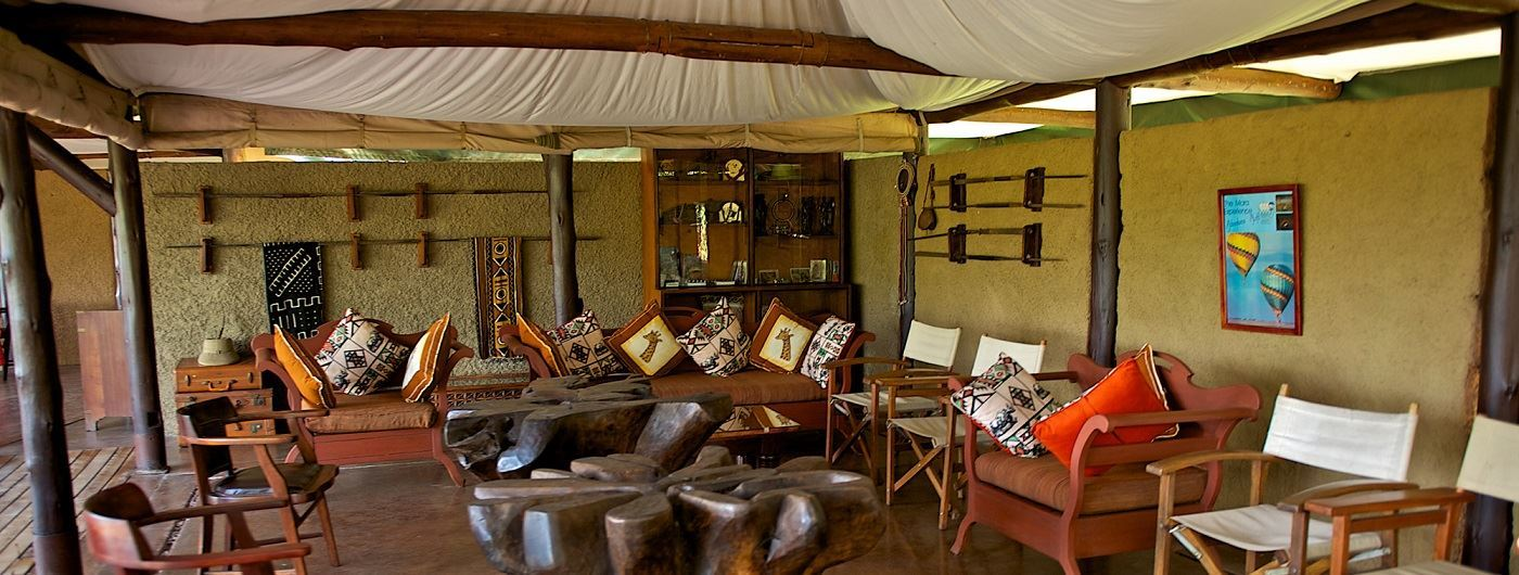 Mara Explorer Luxury Tented Camp lounge area