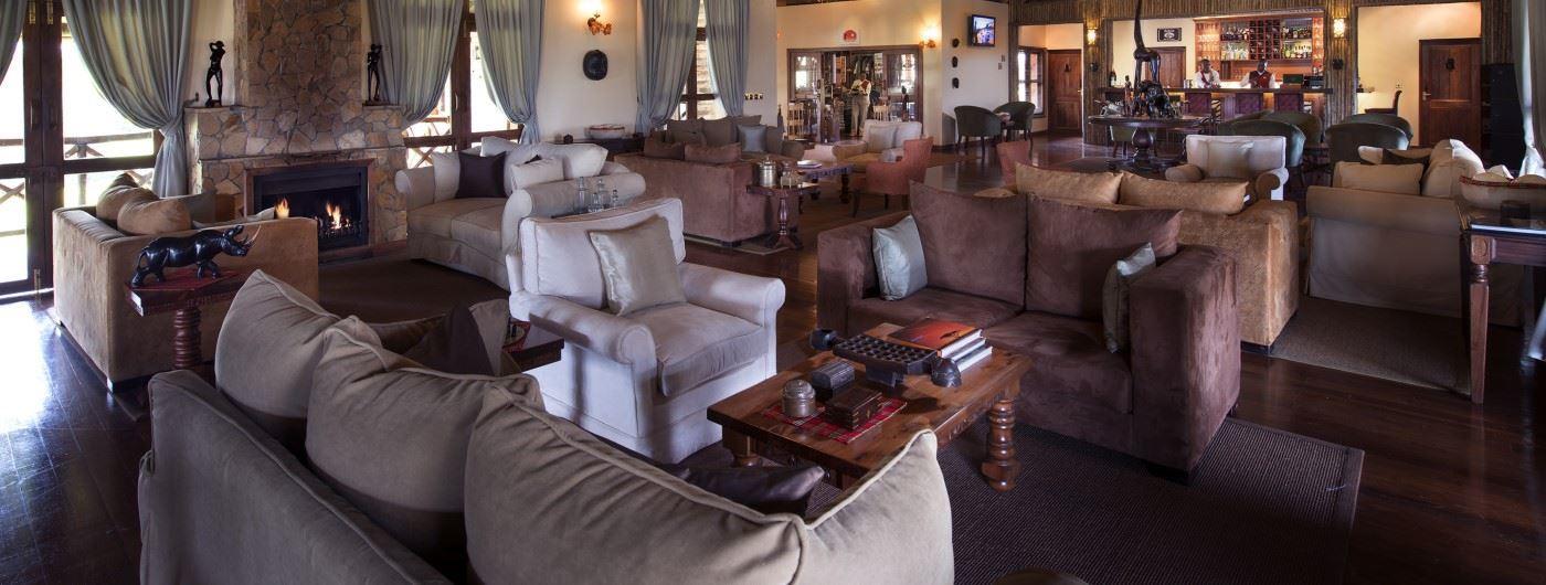 Neptune Ngorongoro Luxury Lodge main lounge