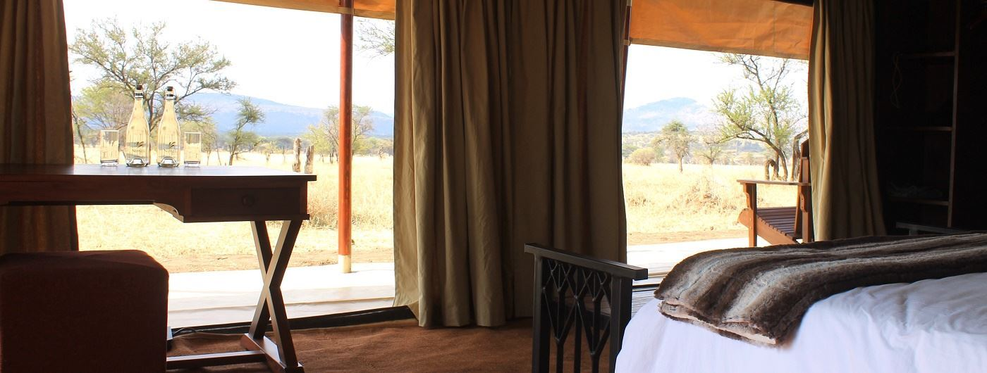Guest tent with a view at Nimali Central Serengeti