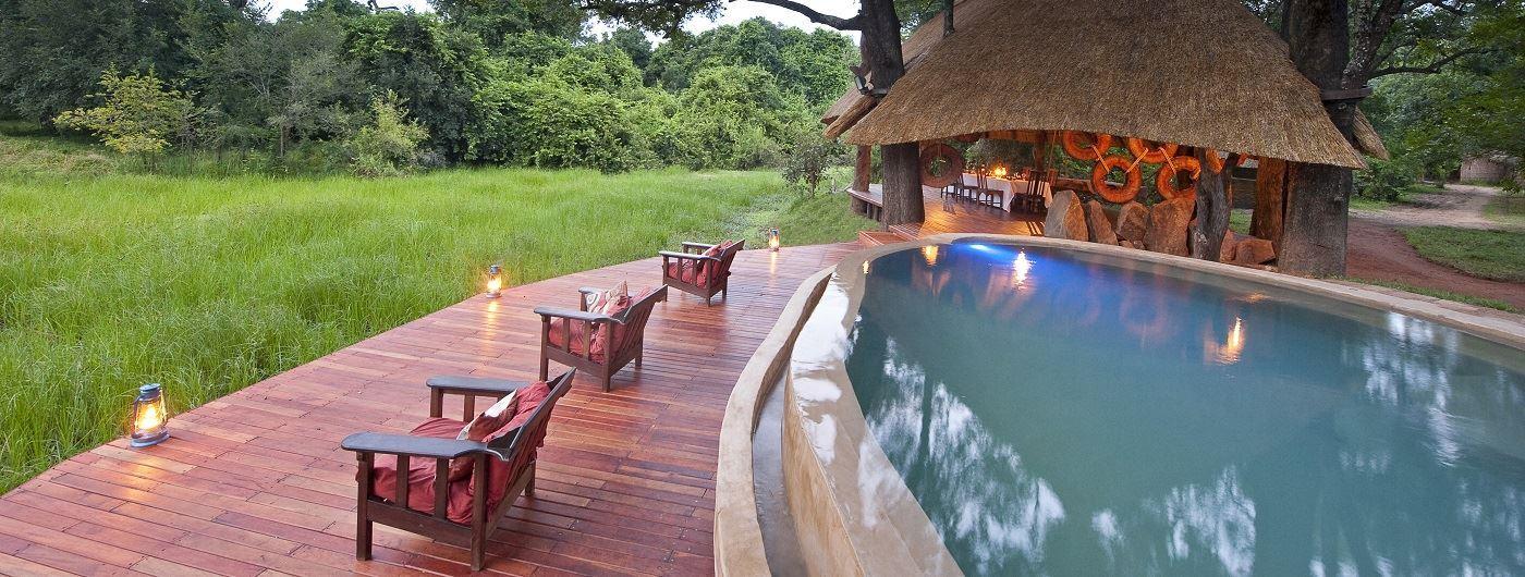 Nkwali Camp main pool