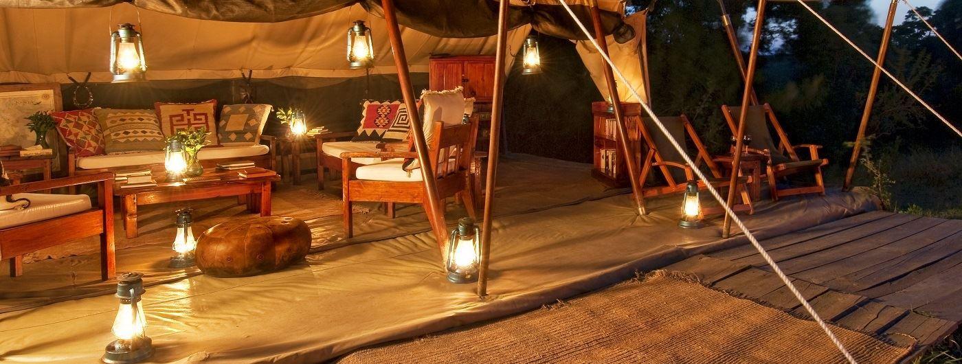 Offbeat Mara mess tent