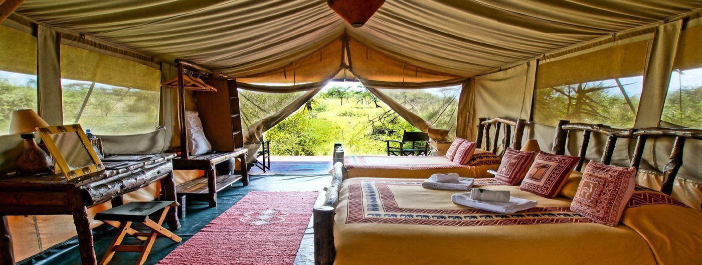 Porini Mara Camp tent interior