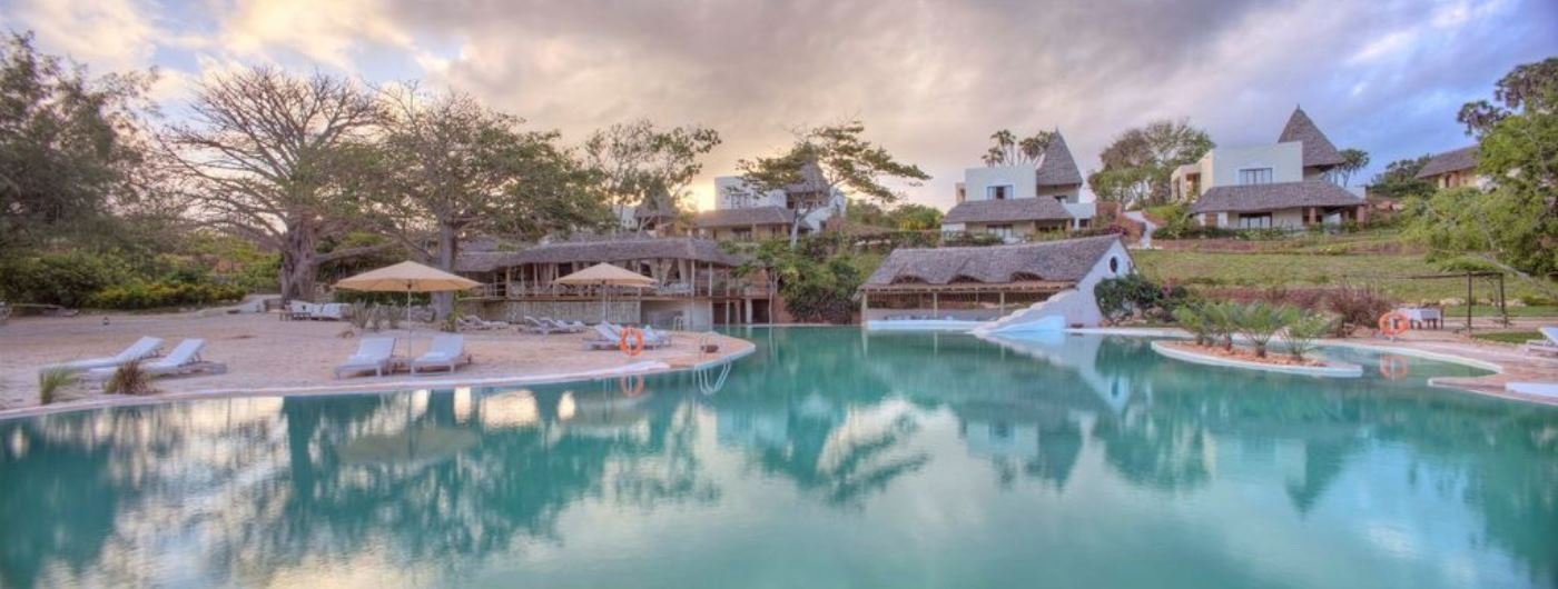 Saruni Ocean lodge exterior and infinity pool