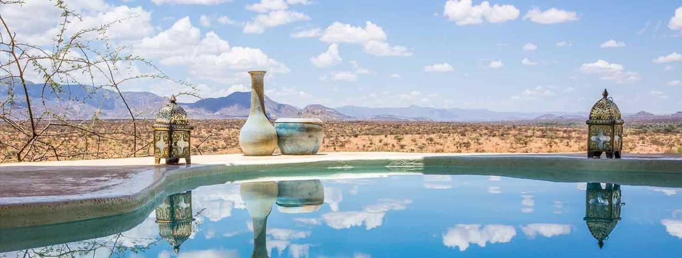 Sasaab Lodge pool and views