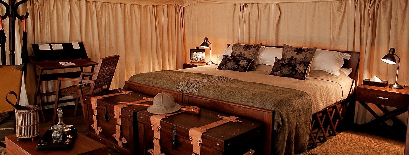 Serengeti Pioneer Camp tent interior