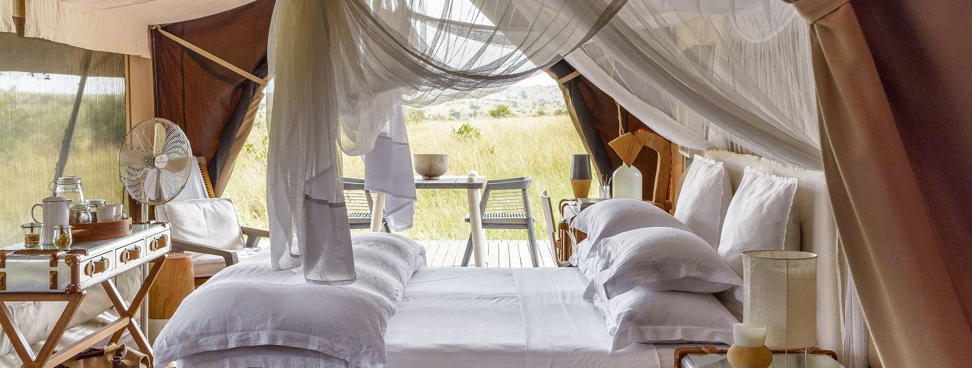 Singita Mara River Tented Camp tent interior
