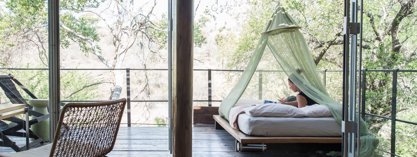 Singita Sweni Lodge outdoor daybed