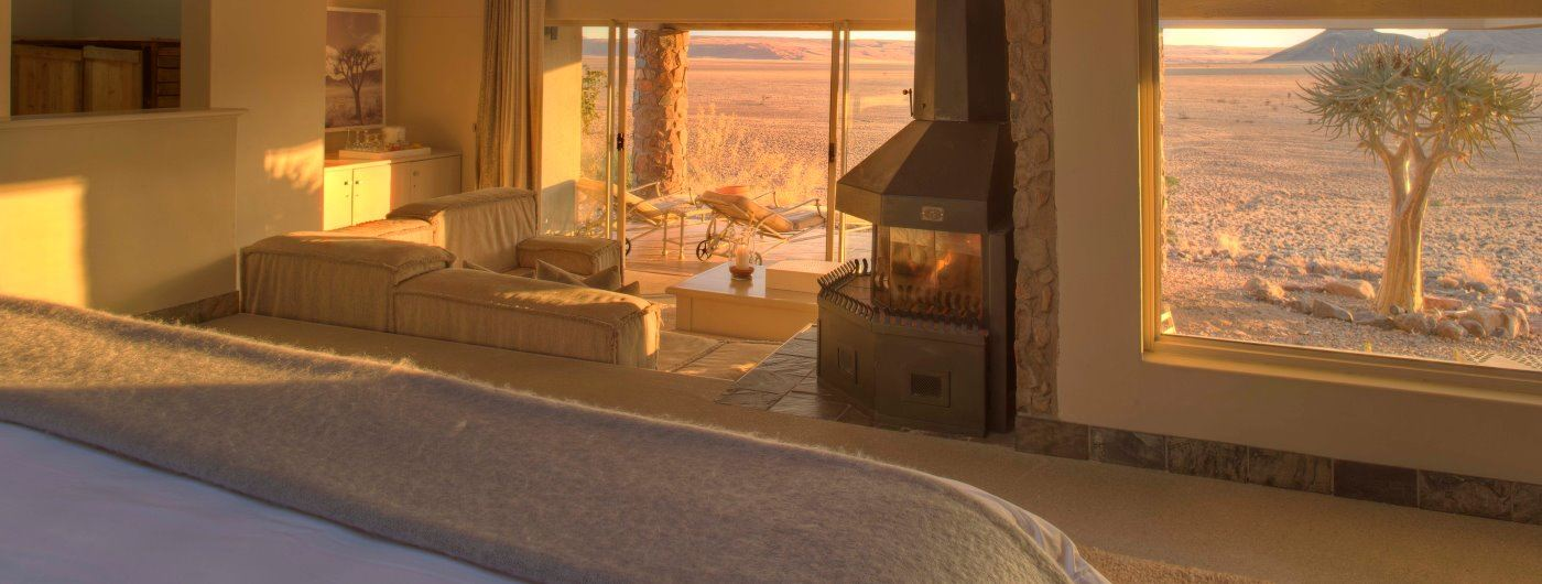 Sossusvlei Desert Lodge room interior