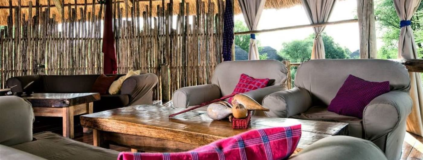 Tarangire River Camp main lounge
