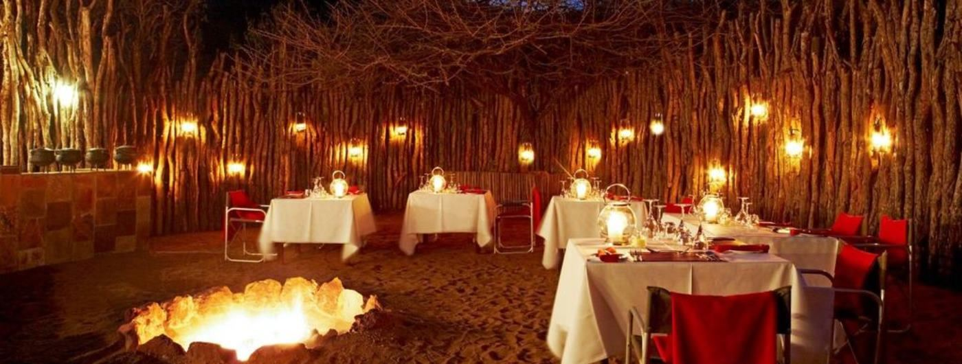 Thanda Tented Camp traditional boma