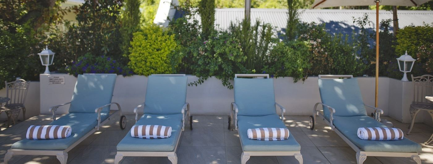 The Last Word Franschhoek sun loungers