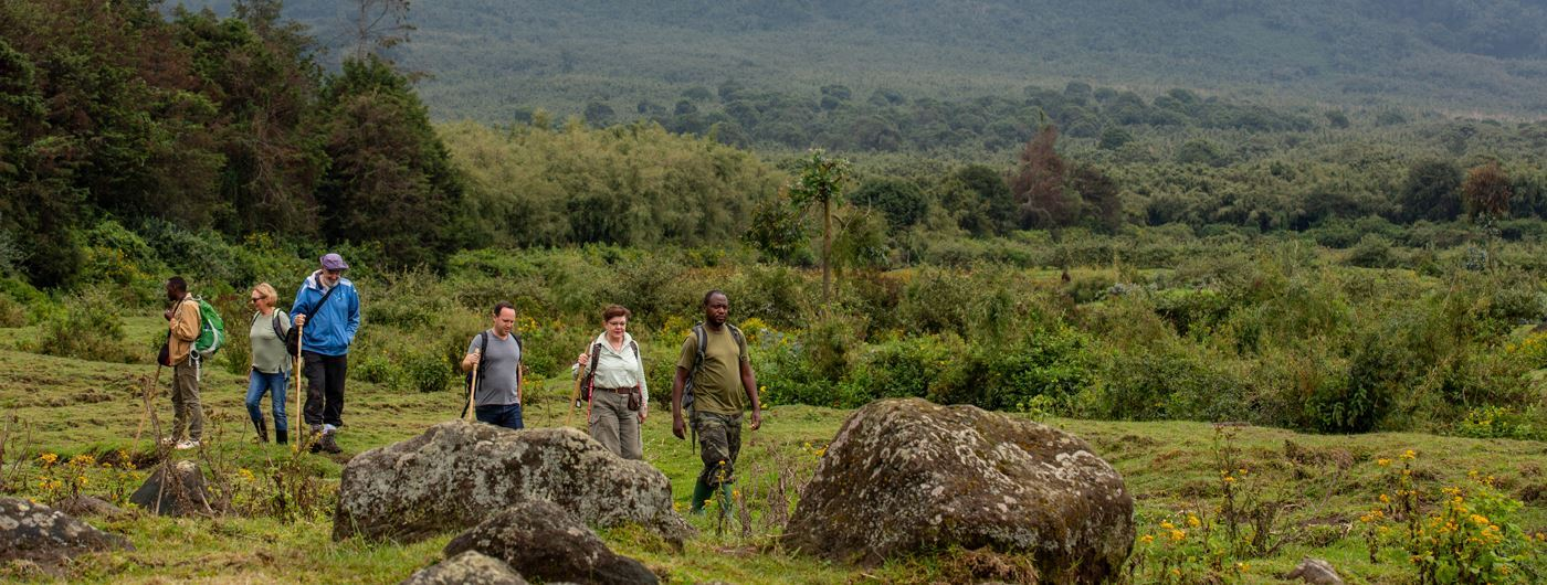 Trekking near Singita Kwitonda Lodge