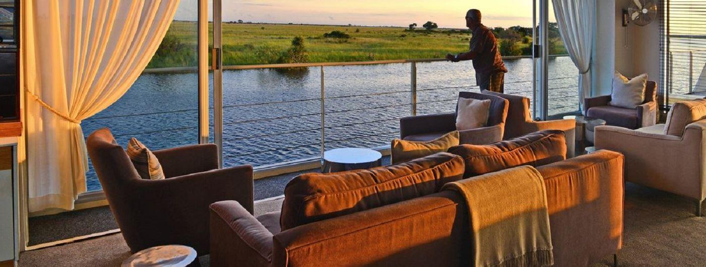 Zambezi Queen lounge area