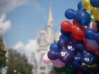 Mickey balloons, Main Street, Magic Kingdom, Walt Disney World, Orlando