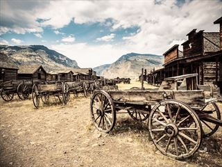 Abandoned Wild West town, Wyoming