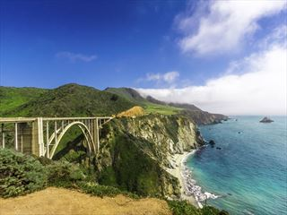 Bixby Bridge on the California coastline