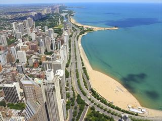 Chicago waterfront, Lake Michigan