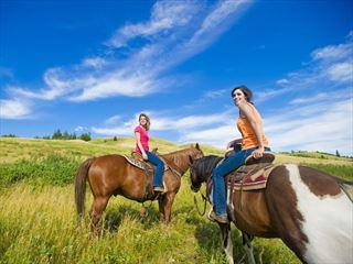 Horseriding in Cypress Hills, Saskatchewan