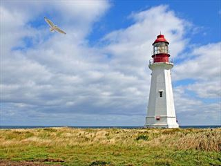 Low Point Lighthouse, Sydney Harbour, Nova Scotia