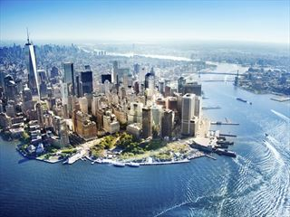 Aerial view of New York