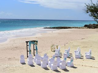 Beach wedding at Sea Breeze Beach House