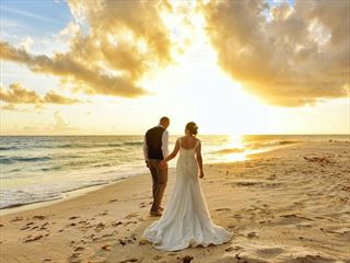 Beautiful Barbados sunset wedding
