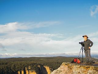 Photographer in the Blue Mountains, NSW