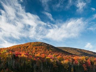 Red fall foliage in Vermont